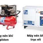 Máy nén khí trục vít và máy nén khí piston có nhiều điểm khác nhau