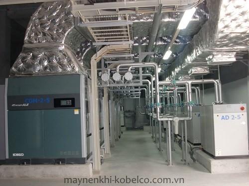 Người dùng cần chú ý lắp đặt máy nén khí trục vít Kobelco tại nơi thoáng mát, khô ráo