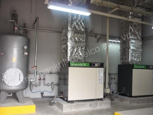 Máy nén khí trục vít được ứng dụng nhiều trong các ngành công nghiệp
