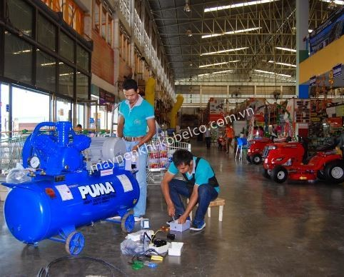 Máy nén khí piston thường được dùng trong những công việc không cần lưu lượng khí nén cao và liên tục