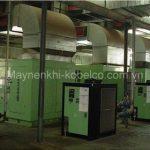 Máy nén khí trục vít 100Hp thường được sử dụng trong các doanh nghiệp, xưởng sản xuất lớn