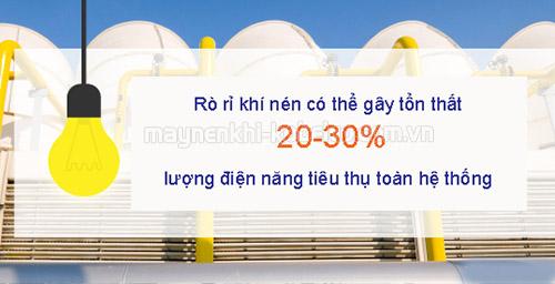 Giảm tình trạng rò rỉ khí nén cũng là cách để tận dụng nguồn năng lượng từ hệ thống máy nén khí hiệu quả