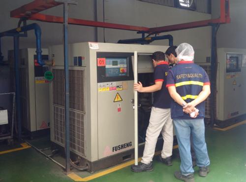 Người dùng cần ngắt nguồn điện trước khi muốn sửa chữa, bảo dưỡng hay vệ sinh máy nén khí