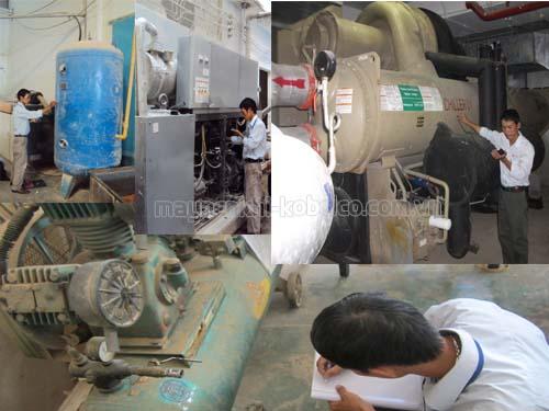Không đặt máy nén khí ở những nơi bụi bẩn